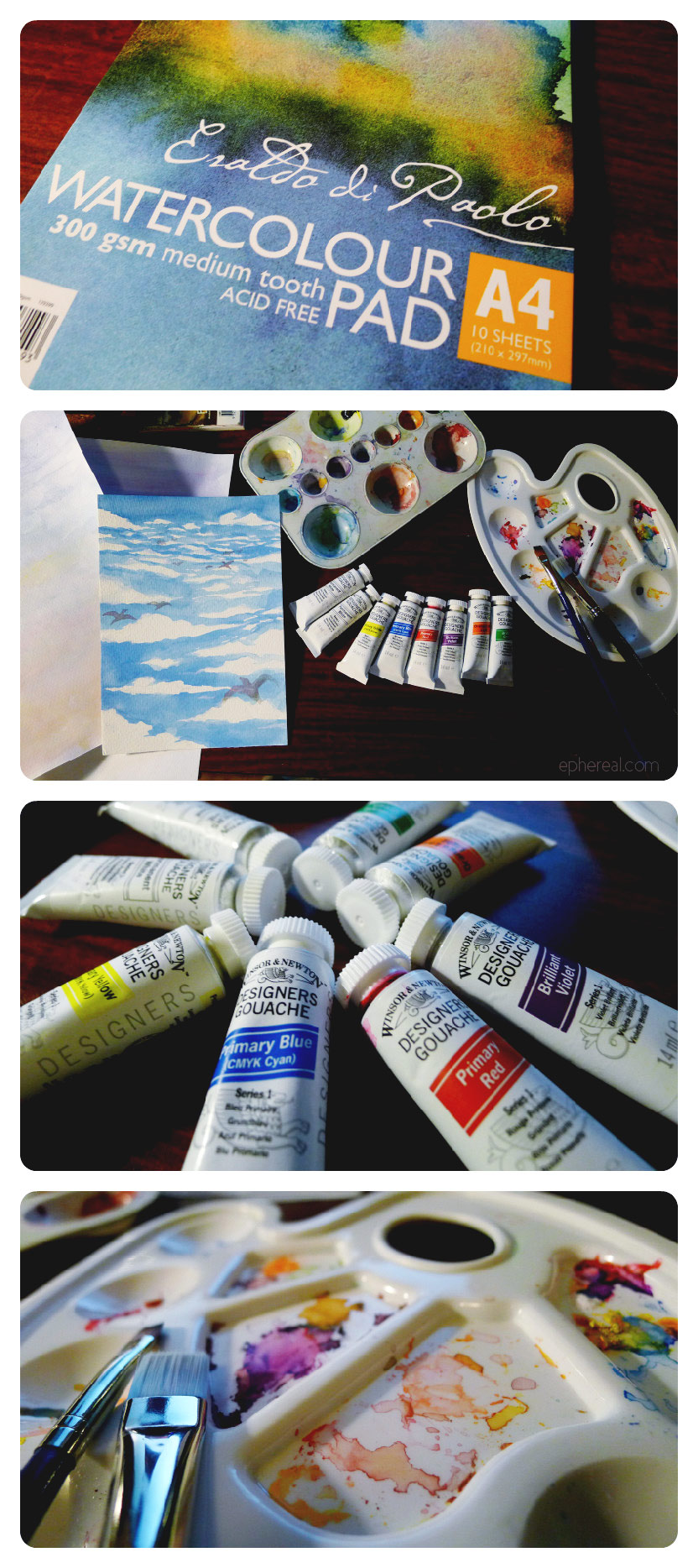 Gouache - experimenting...