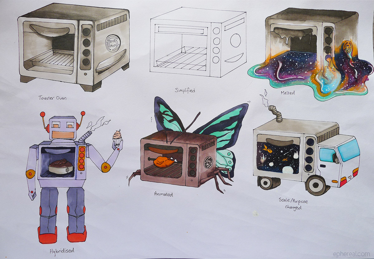 Toaster Oven Sketches
